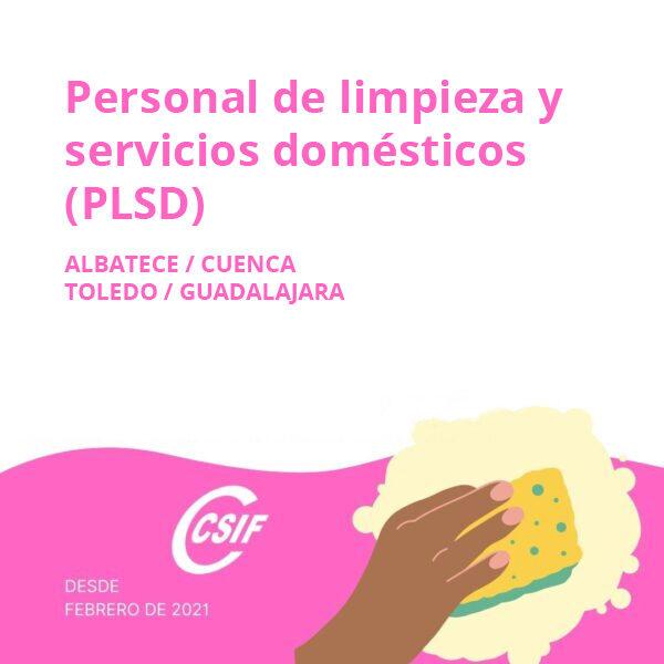 Personal Limpieza y Servicios Domésticos (PLSD) Albacete/Cuenca/Guadalajara/Toledo